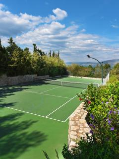 Tennis court.
