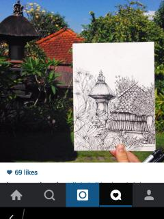 sketch by our artist guest from USA