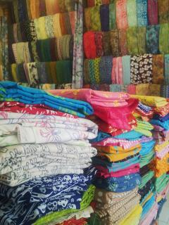 Batik & Fabric Shops at Jalan Gajah Mada Street 2km from the house open 10am-4pm