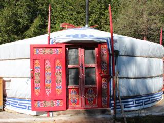 Mongolian Yurt 19' Red w/Sauna, Priceville