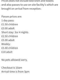 An idea of the cost of passes which gain you access to facilities such as: swimming pool & club!