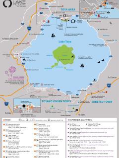 Lake Toya map