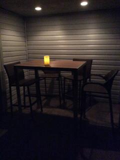 Outdoor bar in the back corner new 2015