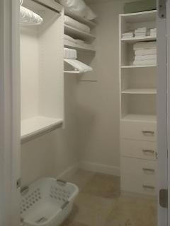 Master closet, plenty of organization