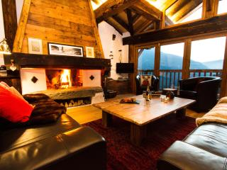 The open fire really brings the warmth of the solid wooden beams to life as you relax together