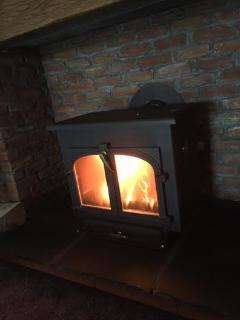 Gorgeous large log burner, recently upgraded to a super efficient mega heat producing gorgeous beast
