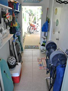 The breezeway has all the things you need for the beach!