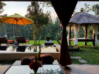 Rustic Villa Padi Menari in Ubud rice fields