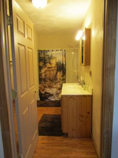 1st floor bathroom with washer & dryer (1 of 3 bathrooms)