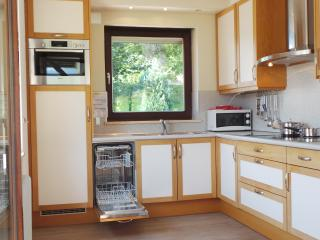 Fully furnished kitchen wit many appliances