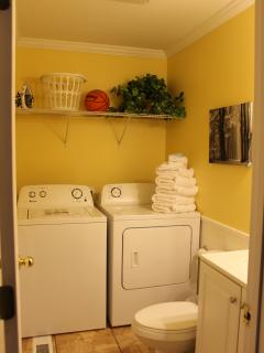 Downstairs bathroom &  laundry.