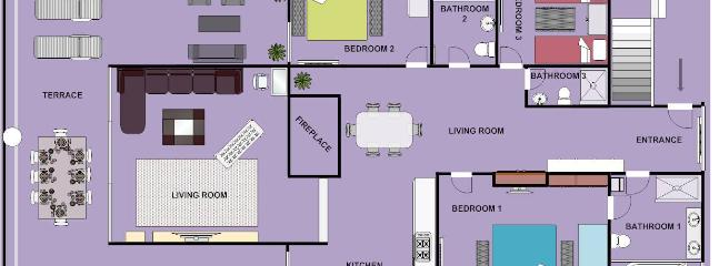 Villa GG / Middle Floor / Floor plan