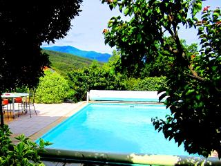 Private pool, stunning views, roof terrace, sunset, Ceret