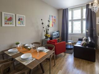 Vaclav Havel Balcony apartment in Nove Mesto with WiFi, balcony & lift.
