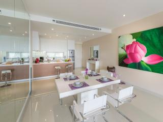 Cook in the kitchen or socialise in the living space inside our condo rental in Phuket.