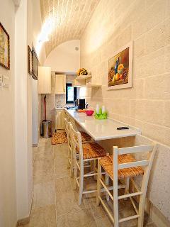 Kitchen on the upper floor of Dimora Christian