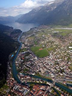 Interlaken from the air.