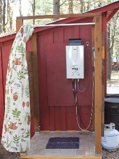 Seasonal outdoor shower