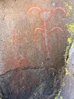 Pictograph at 'Stone Bridge' petroglyph site