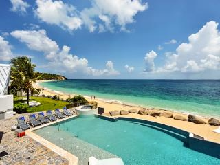 Private beach perfect for entertaining. C GLU, St. Maarten