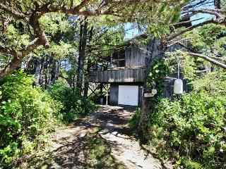 Rustic Charm~Rustic cabin nestled in the trees, only 1/2 block to the beach!!, Manzanita