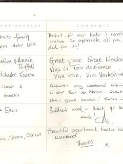 Excerpt from the Visitors' Book