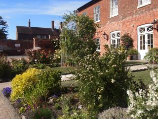 The garden is south facing and in the Summer benefits from  sun all day.