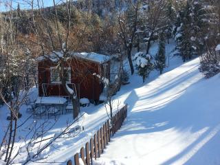 Cabaña grande nevada