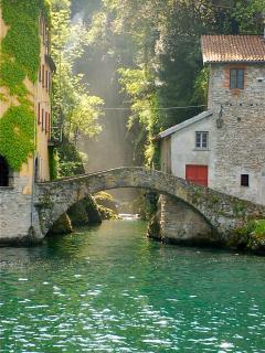 Nesso's Roman bridge - the last Roman bridge on Lake Como.