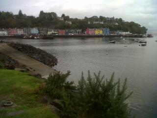 Picturesque harbour of Tobermory with its brightly painted houses