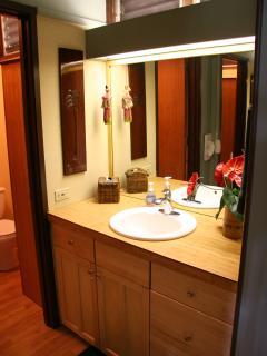 Vanity Area outside of tub/shower on main floor