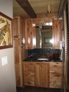 Main Floor Bath and 'hidden' washer/dryer