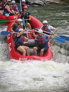 Close to white water rafting fun