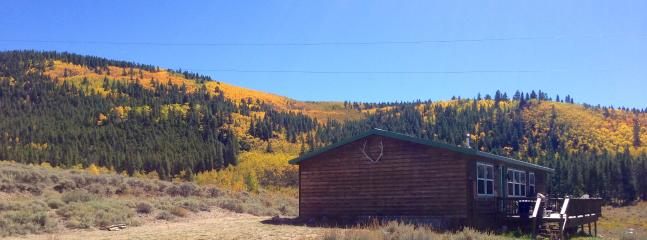 Cabin is next to Empire Creek and BLM forest land