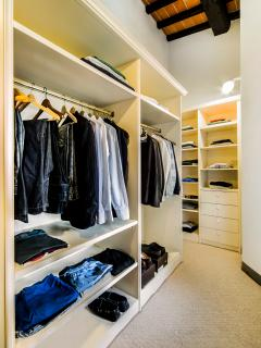 Walk in closet (master bedroom)
