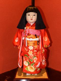 Old traditional Japanese doll.