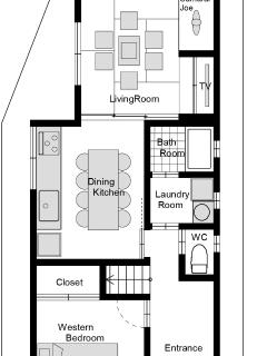 Gojozaka Machiya 1F - Floor Plan