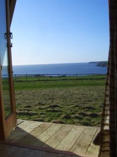 Wheems Eco Glamping Pod / Bothy view