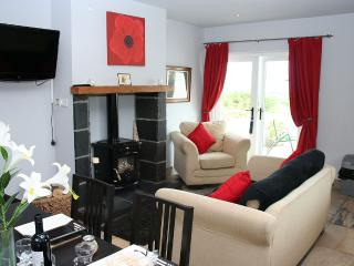 Delightful and cosy open plan kitchen dinining-living area complete with wood burning stove