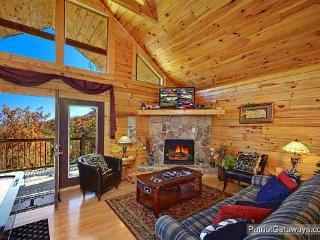 Living Room with Fireplace at Precious View