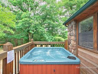Deck with Hot Tub at Patriot Pointe