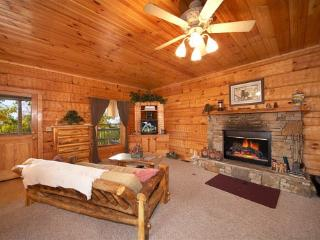 Living Room with Fireplace at Mountain Memories