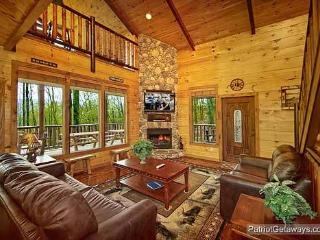 Living Room with Fireplace at Making Memories Lodge