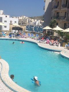 Relaxing pool club