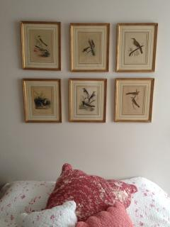 Linens from France and my grandmother's 'little birds'