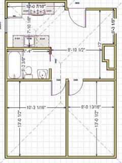 Floorplan for the apartment.