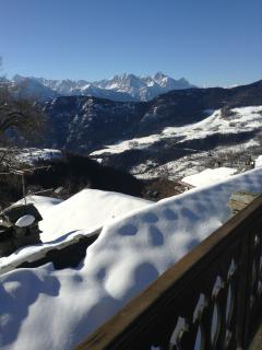Vista dal balcone in inverno