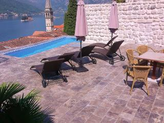 Stone Villa with pool and views of the Bay, Perast