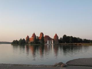 Apartment in Trakai with fireplace