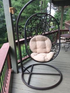 eggchair on upper deck